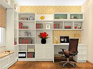打造浪漫优雅的书房装修效果图