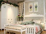 欧式田园卧室装修图温馨舒适