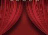 暗红色幕帘喜庆背景高清图片素材