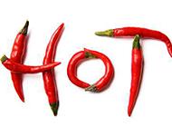 HOT字形红辣椒图片素材
