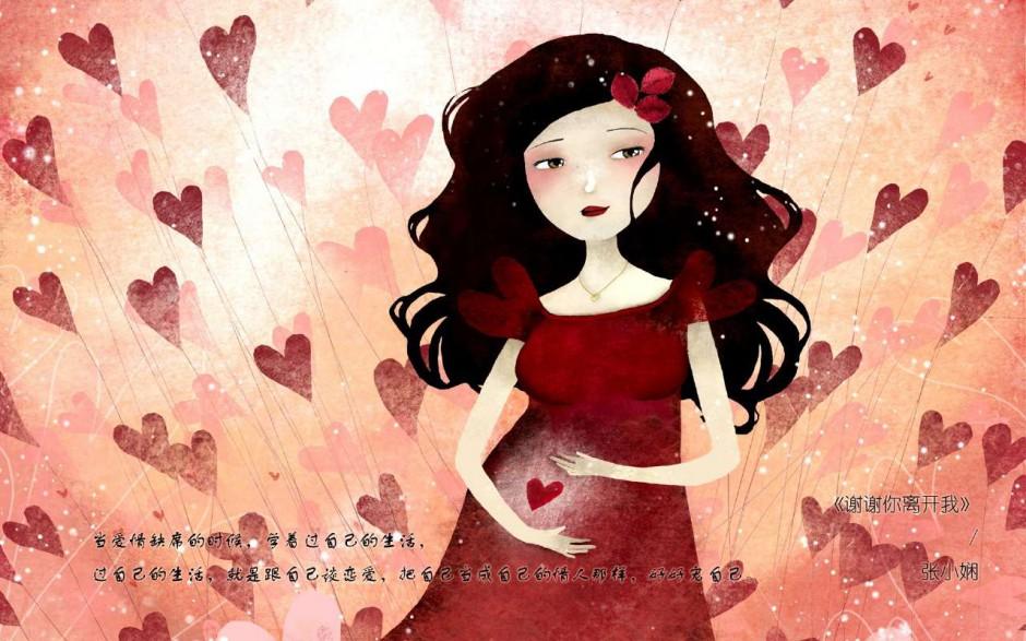 超高清壁纸《三月里的幸福饼》卡通插画壁纸