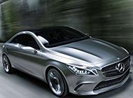 银色的汽车奔驰concept style coupe图片