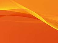 可爱橙色曲线ppt背景图片