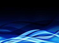 曲线渐变动感蓝色背景图