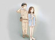 韩国电视剧《太阳的后裔》卡通剧照壁纸