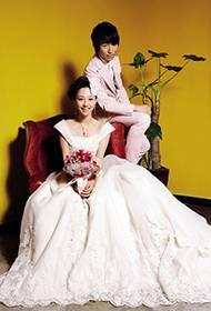 白百何陈羽凡夫妇甜蜜幸福时尚婚纱照