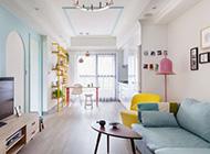 清新粉色可爱26平米小户型儿童房