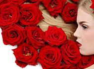美人与玫瑰精致浪漫美图