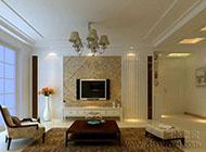 客厅美观实用的隐形门装修效果图