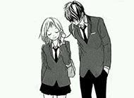 可爱的卡通黑白情侣图片