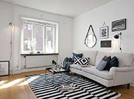50平米现代简约公寓装修效果图经典优雅