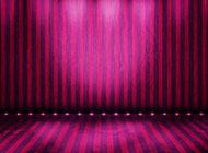 小学精致紫色舞台背景图