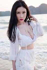 魅妍社嫩模于姬Una海岛湿身写真