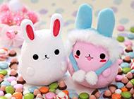微信背景图片高清粉色兔子素材