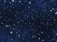 群星闪烁的蓝色星空背景高清图片