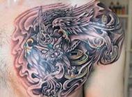 貔貅半甲纹身图案经典霸气