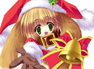 圣诞节的可爱动漫美女图片