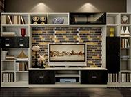 客厅电视背景墙简约装修效果图片大全