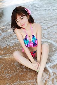 秀人美女刘飞儿faye夏日海边性感比基尼秀