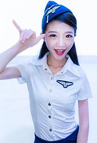 空姐美女刘萱琳制服诱惑图片