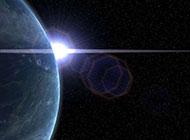 浩瀚无际的宇宙与地球背景高清图片
