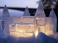 浪漫冰城雪景经典壁纸桌面