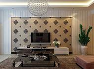 超美时尚简约客厅背景墙设计图片欣赏