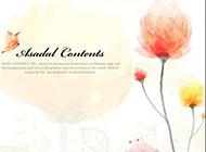 草本植物粉色背景图片素描