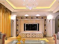 电视背景墙欧式装修效果图时尚大气