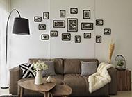 小户型客厅相片墙效果图赏析