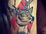个性手臂精美彩绘艺术纹身图案