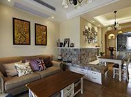 美式古典客厅混搭装修效果图
