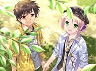 手牵手的动漫情侣背景图片