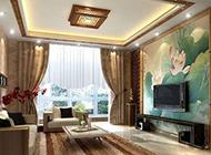 客厅电视背景墙中式装修效果图片