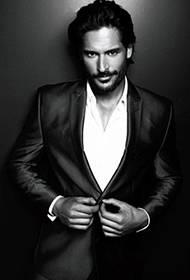 狂野派型男乔·曼根尼罗帅气冷峻黑白写真