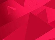 喜庆的红色几何形背景素材