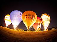 唯美梦幻的彩色热气球图片