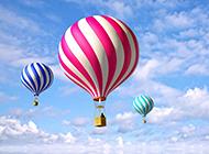 唯美非主流热气球图片素材