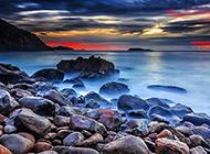 唯美浪漫的海边风景图片