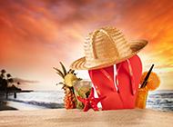 超美的夏威夷海滩风景高清图片