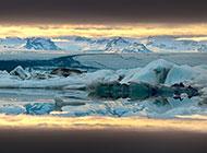 北极的冰川自然风光壁纸