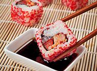 美味的鲜鱼籽寿司图片素材