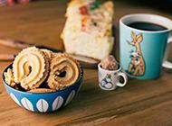 下午茶点心曲奇饼唯美图片