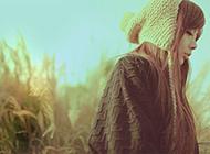 冬日的唯美悲伤女生图片