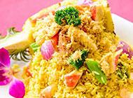 美味的菠萝海鲜炒饭图片