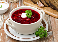 俄罗斯家常菜红菜汤图片欣赏