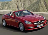 红色激情的奔驰SLK跑车图片
