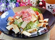 色香味俱佳的培根沙拉图片
