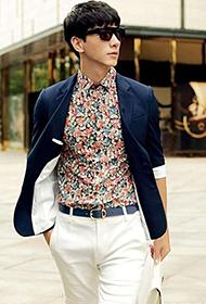 中国男模特张亮时尚街拍大片