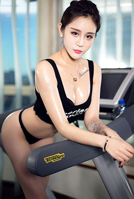 翘臀小妖精王一涵健身房性感人体写真